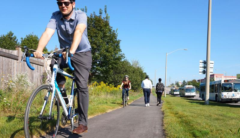 Cyclists enjoy new multi-use trail