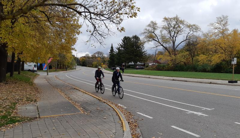 Cyclists enjoy new bike lane