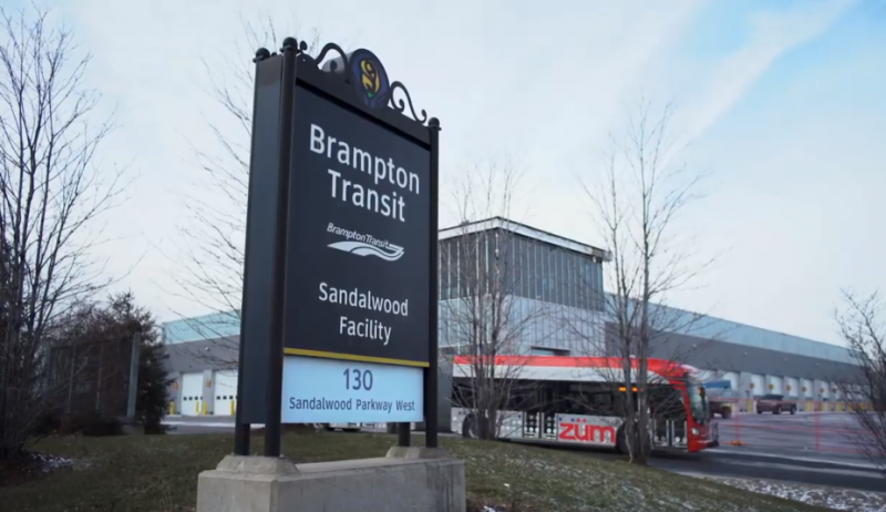 Screenshot from video about the City of Brampton's transit system.