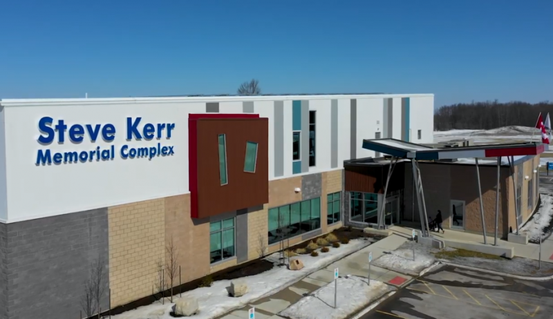 Screenshot from video about North Perth's Steve Kerr Memorial Complex.