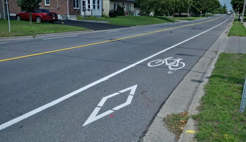 A bicycle lane