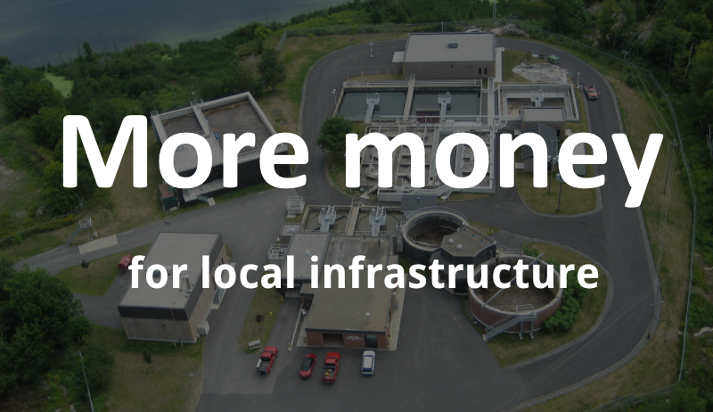 More money for local infrastructure